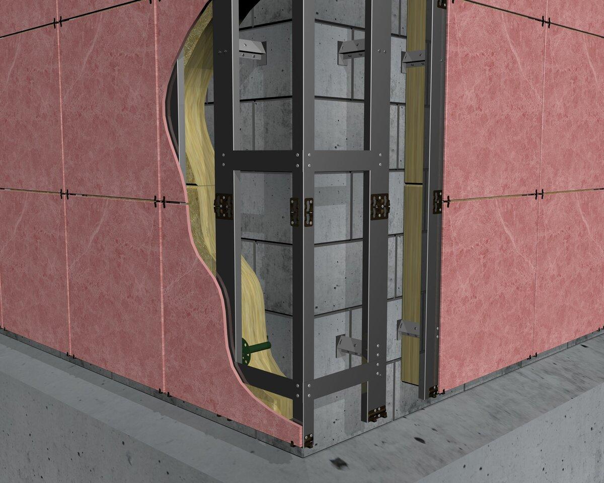 Оцинкованный профиль для вентилируемого фасада
